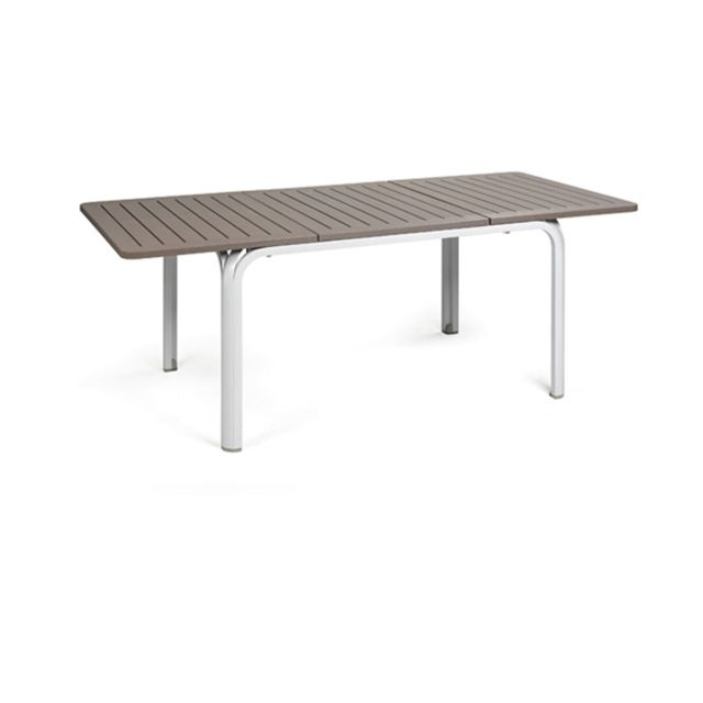Table extensible de jardin design Alloro 100x140/210 par