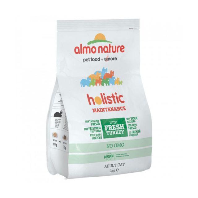 Almo Nature Croquettes Holistic pour chat adulte à la dinde et au riz Sac 12 kg
