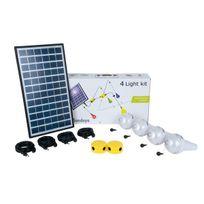 Sundaya - Kit éclairage solaire 4 lampes Ulitium 200