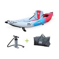 """- Canoë kayak gonflable 1 place Betta K2 10'3"""" - 3,12m bateau monoplace eaux vives ou eau de mer avec pompe haute pression, sac de rangement"""