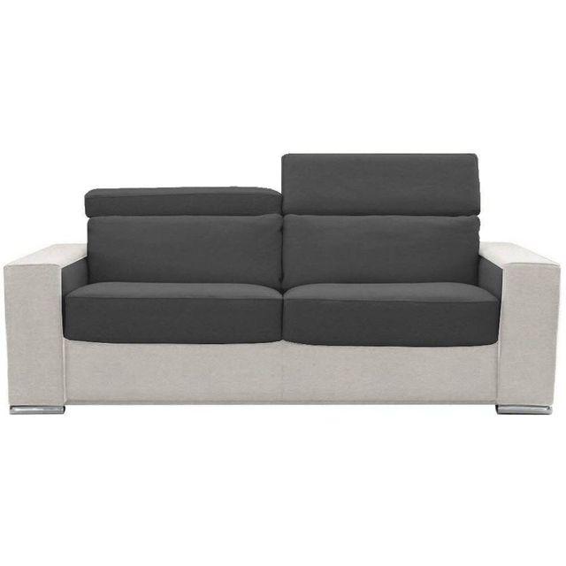 inside 75 canap convertible ouverture rapido jet 140cm blanc graphite matelas 20cm m moire de. Black Bedroom Furniture Sets. Home Design Ideas