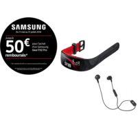 Samsung - Pack Gear Fit 2 Pro rouge L + Écouteurs JBL Inspire 500