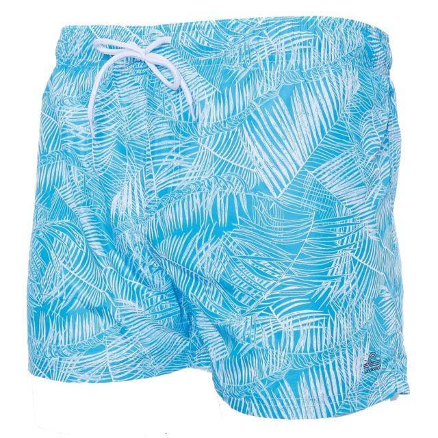 super pas cher Royaume-Uni disponibilité nouvelles photos Short de bain palmiers bleu homme Longboard Multicouleur Xl