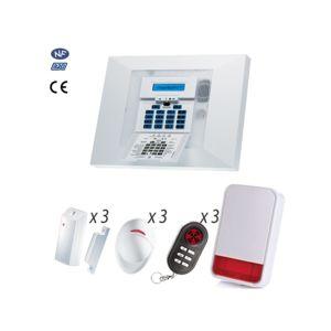 visonic alarme maison gsm powermax pro nfa2p kit 10 pas cher achat vente alarme. Black Bedroom Furniture Sets. Home Design Ideas