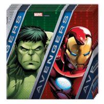 Procos - Serviettes en papier Avengers : 20 serviettes de fête