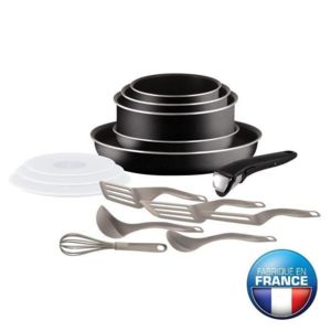 Tefal - Ingenio Essential Batterie de cuisine 15 pieces L2009202 16-18-20-26 cm Tous feux sauf induction