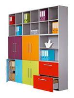 - Lot 2 tiroirs pour bibliotheque modulaire - kiwi