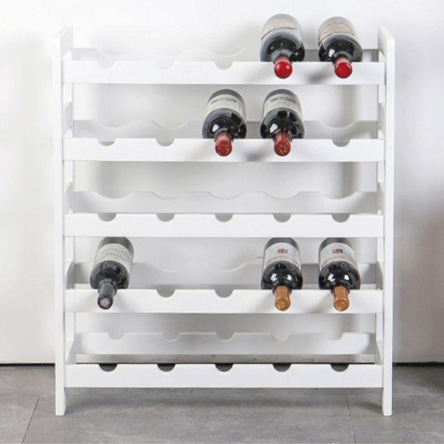 Rangement De Cuisine Presentoir A Vin En Bois Casier A Vins Massif Multicouche A Pour Restaurants Blanc
