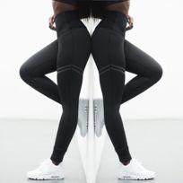 6b55171dbff Wewoo - 2 leggings de sport fitness haute élastiques collants slim running  sportswear pantalons yoga pour