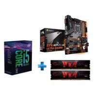 INTEL - Processeur i5-8400 -Socket 1151 - 2.8 Ghz - Cache 9M - Coffee Lake + Carte mère ATX - Socket LGA1151 - Chipset Z370 + DDR4 Gaming Series - Aegis PC4-19200 / DDR4 2400 Mhz2 x 4GB CAS 15-15-15-35