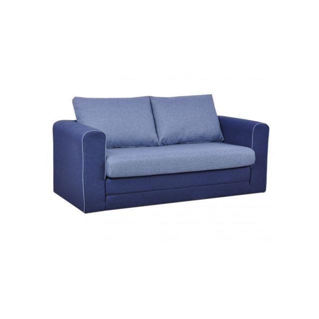 Canapé convertible Bleu