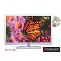 Antarion - Télévision TV + DVD LED 19' HD 12V /220V camping car BLANCHE