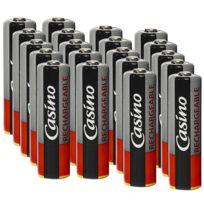 Casino-uniross - Uniross - Casino 5 paquets de 4 accus préchargés 1.2 V Ni-Mh - R6/AA rechargeables 2100 mAh étanches