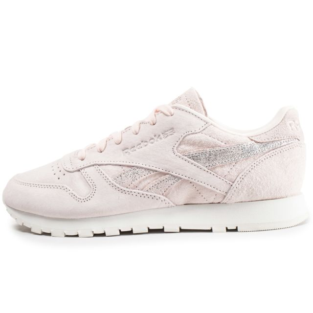 14fec7fe1927f Reebok - Classic Leather Shimmer Rose - pas cher Achat   Vente ...
