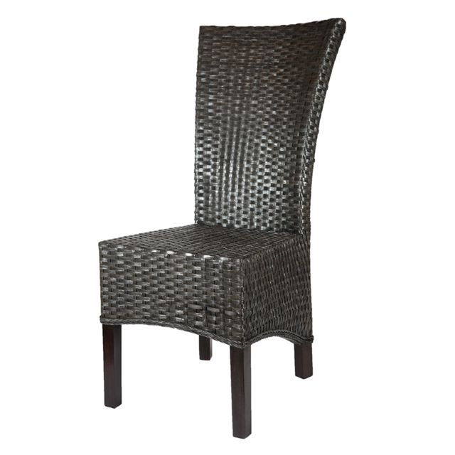rotin design chaise alma en rotin gris noir anthracite pas cher achat vente chaises rueducommerce - Chaise Rotin Noir