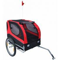 CASASMART - Remorque de vélo pour chiens rouge noir