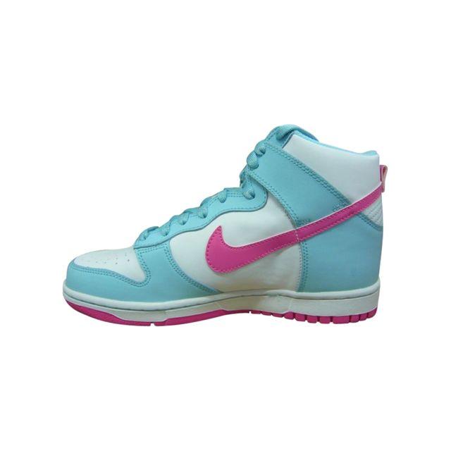 low priced 3c60b 73a45 Nike - Dunk High Junior Blanc 316604-103 - pas cher Achat   Vente Baskets  enfant - RueDuCommerce