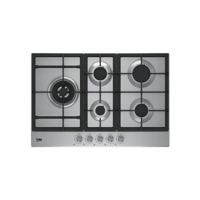 Beko Plaque au gaz Hial 75225 Sx 75 cm 5 cuisinière