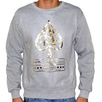 Marque Inconnue - Monsterpiece - Sweat Shirt - Homme - As Jay Z - Gris Or
