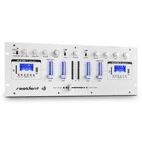 RESIDENT DJ - DJ405USB-WH Table de mixage USB 4 voies 2x Bluetooth Enregistrement