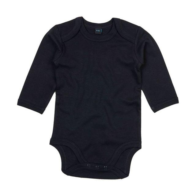 Babybugz - body bébé coton organic manches longues - Bz30 noir - pas ... df811092399