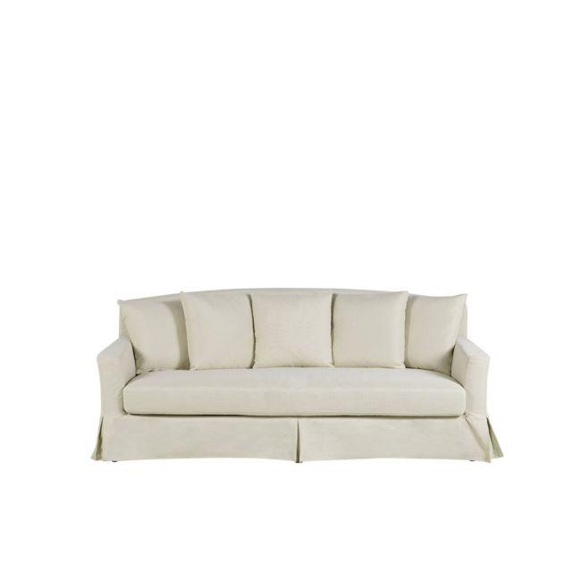 BELIANI Canapé 3 places en tissu beige GILJA - gris