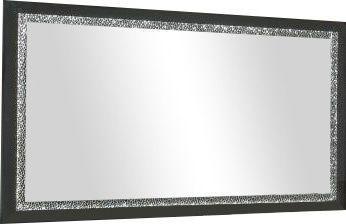 Comforium Miroir 180cm noir laqué garni de décor galet