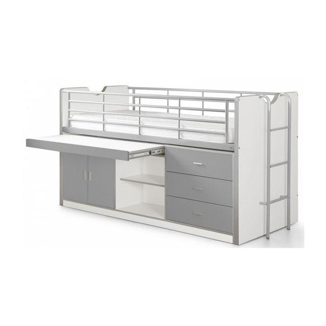 Vipack Lit Combin Bureau Bonny Silver