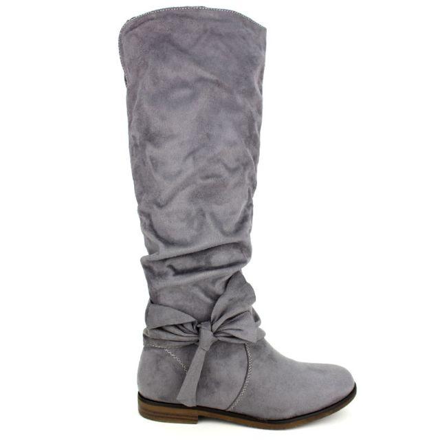 440e660fe1f2 Cendriyon - Botte simili daim Grise Sixth Sens Moda 37 - pas cher Achat    Vente Boots femme - RueDuCommerce