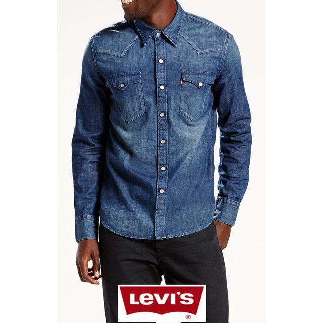 prix raisonnable pour toute la famille mode designer Levi'S - Chemise en jean Levis Barstow Western Bleu ...
