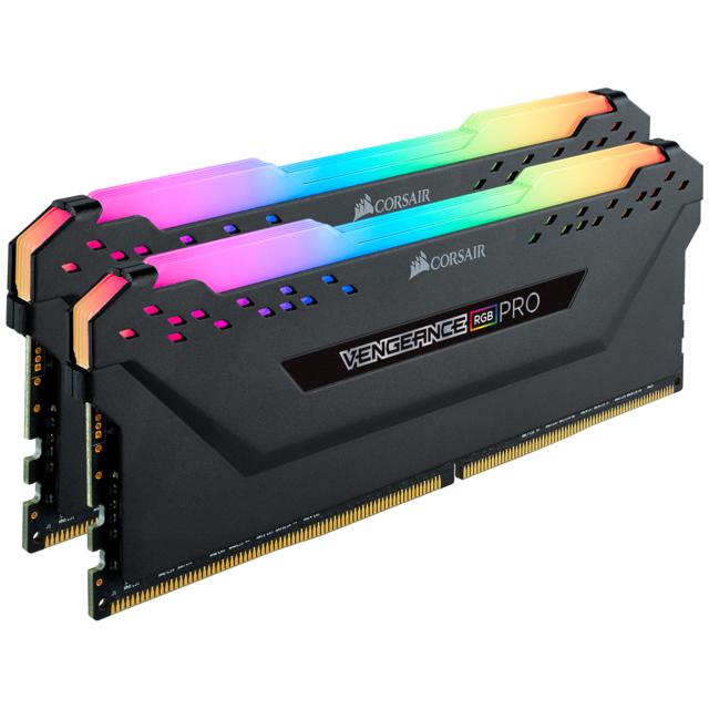 CORSAIR Vengeance RGB PRO 16 Go 4000 MHz CAS 19 - Noir Le module de mémoire CORSAIR VENGEANCE RGB PRO Series DDR4 illumine votre PC avec un éclairage RGB multizone envoûtant et dynamique tout en offrant les meilleures performances et stabilité de la gamme