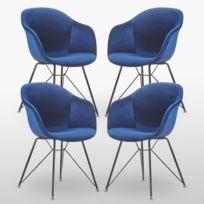 Lot de Chaises pas Altobuy 6 Bleu Modrus cher Foncé 35AR4Lj