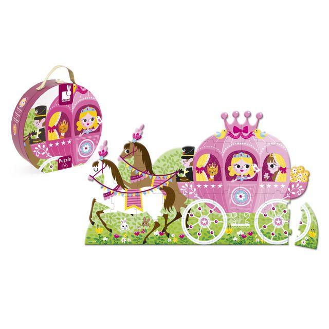 JANOD Floor Puzzle - 39 pièces : Le carosse de la Princesse