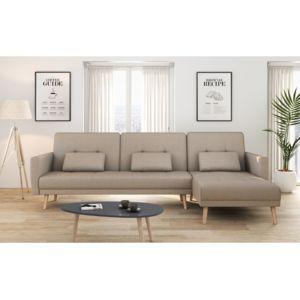 USINESTREET Canapé Dangle Réversible Et Convertible Places - Canapé d angle convertible tissu beige