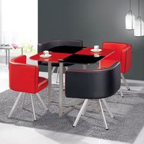 table salle a manger rouge - Achat table salle a manger rouge pas ...