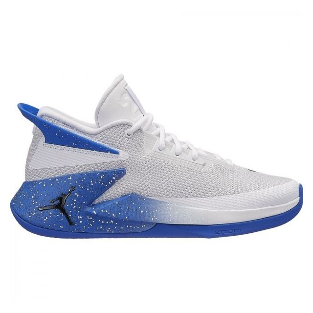 Jordan - Chaussure de Basketball Fly Lockdown Blanc Royal ...