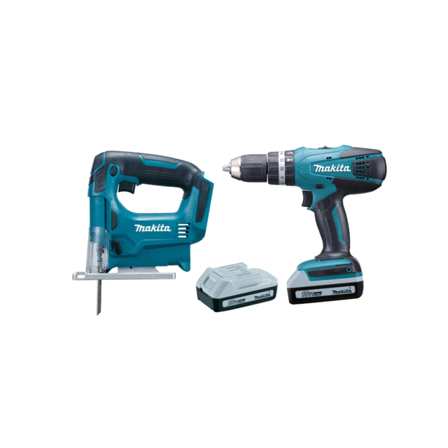 makita pack 2 machines 18v perceuse df457d scie. Black Bedroom Furniture Sets. Home Design Ideas