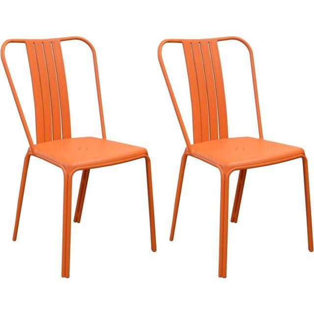Chaises en aluminium Azuro Lot de 2