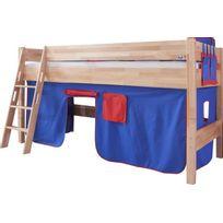 Comforium - Lit mi-hauteur enfant 90x200 avec tente de jeu design ...