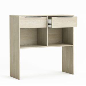 alin a prima console 2 tiroirs coloris ch ne clair pas cher achat vente consoles. Black Bedroom Furniture Sets. Home Design Ideas