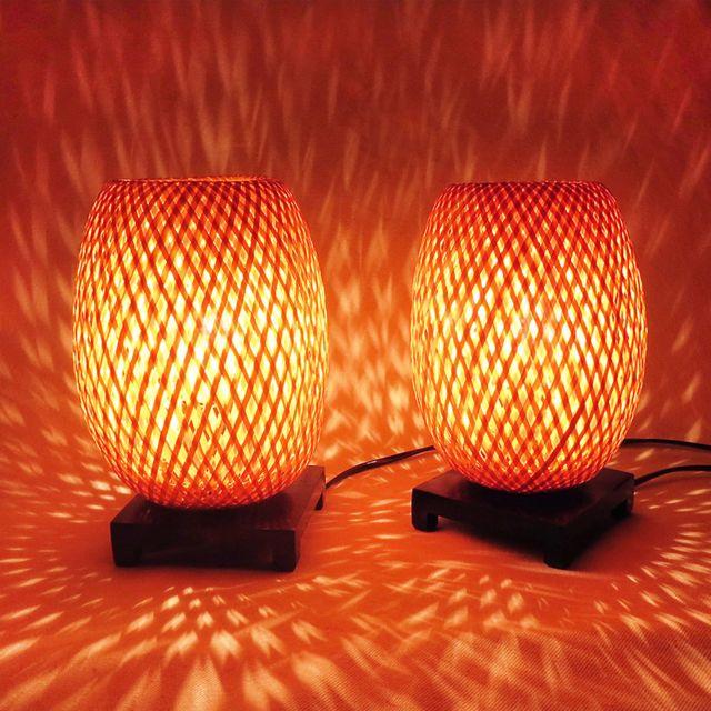 Time Is Light Lampes De Chevet En Bambou Variateur Vendues Par