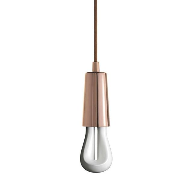 Plumen Led 002-Suspension avec Ampoule Led 002 H9,7cm Cuivre