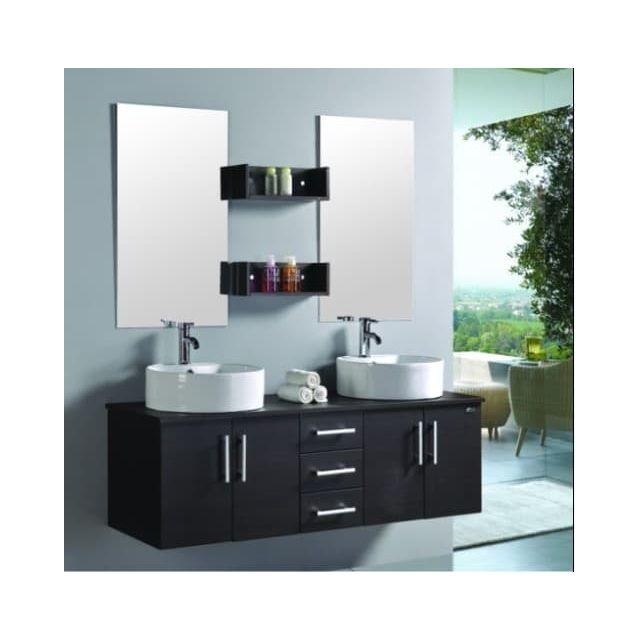 items france luxor meuble double vasque de salle de. Black Bedroom Furniture Sets. Home Design Ideas
