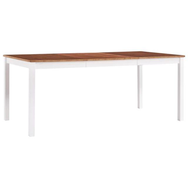 Magnifique Tables selection Dodoma Table de salle à manger Blanc et marron 180 x 90 x 73 cm Pin