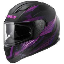 Ls2 - casque moto intégral Ff320.22 Lux femme noir violet mat M