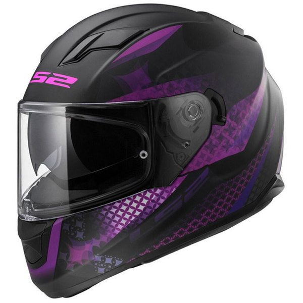 ls2 casque moto int gral lux femme noir violet mat m pas cher achat vente casques. Black Bedroom Furniture Sets. Home Design Ideas