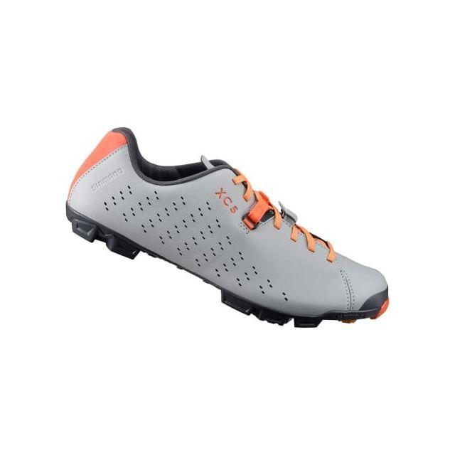 d596c73fe8c Shimano - Chaussures Xc5 Vtt gris orange - pas cher Achat   Vente Chaussures  cyclisme - RueDuCommerce