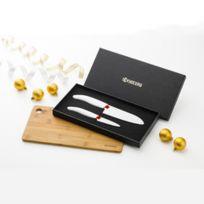 Kyocera Yashica - Coffret 2 Couteaux Céramique + 1 Planche à Découper