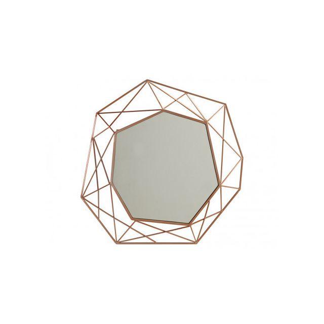 Marque Generique Miroir géométrique Safira - D61 cm - Métal - Cuivre