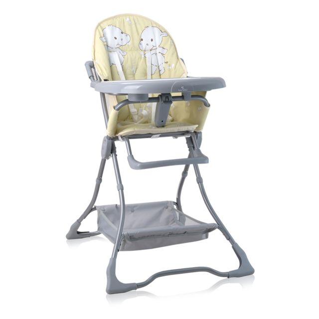 NOOMI Chaise haute b/éb/é scandinave 2 en 1 Gris